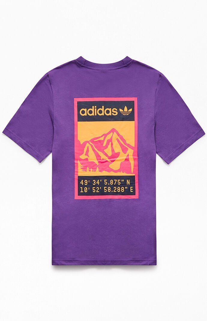 adidas purple tee