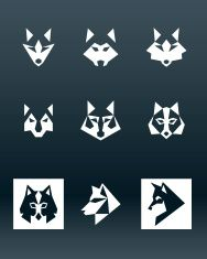 Wolf Logo vector art illustration
