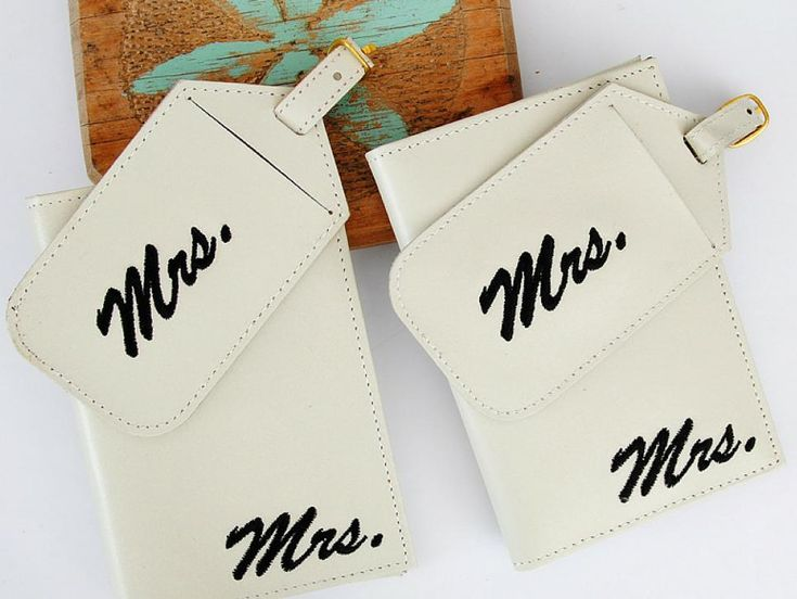 Check out these wedding gift ideas for gay and lesbian couples. https://www.etsy.com/listing/261690645/luggage-tags-passport-set-mrs-and-mrs?ref=shop_home_active_33
