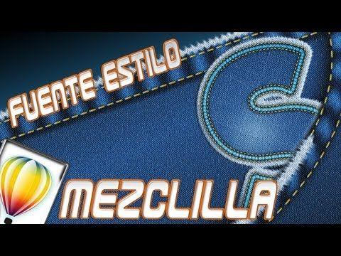 Fuente estilo Mezclilla