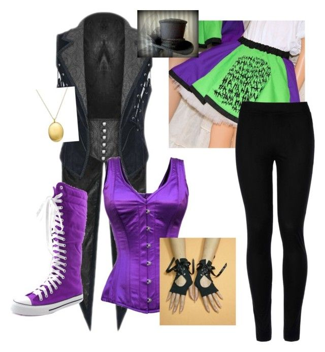 """""""Female Joker (My OC)"""" by pogojoker on Polyvore featuring Wolford"""