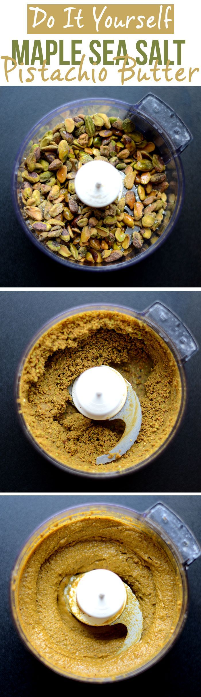 DIY Maple Sea Salt Pistachio Butter! I love love LOVE pistachios so I deffo have to try this