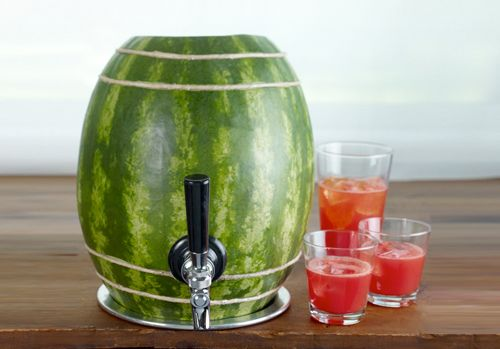Watermelon Keg- Such a cute idea for a summer party!