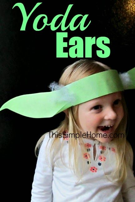 Yoda Ears Headband Craft and Tutorial #starwars #Yoda #homemade