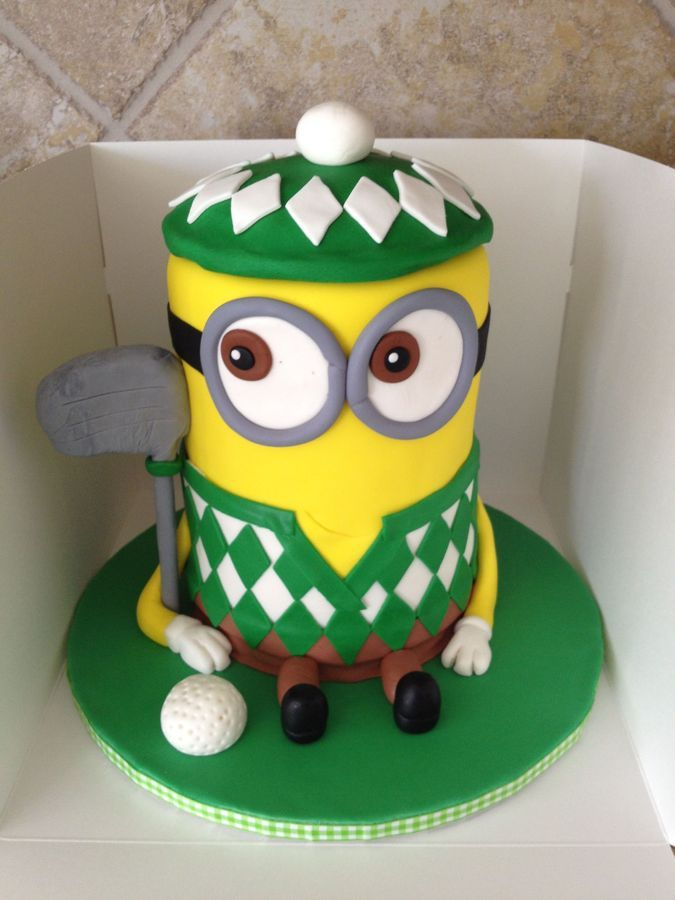 I made this for my son's 9th birthday. He had a golf party, but wanted a despicable me theme, so this is what we came up with after see...