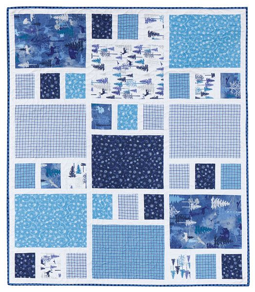 Additional Images of Craftsman - Crib Quilt Kit by Amy Smart - ConnectingThreads.com