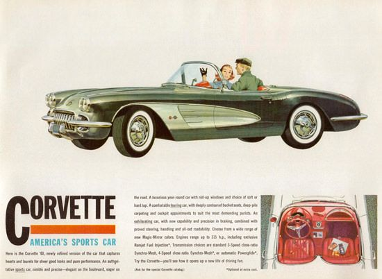 Chevrolet Corvette Americas Sports Car 1960 - Mad Men Art: The 1891-1970 Vintage Advertisement Art Collection