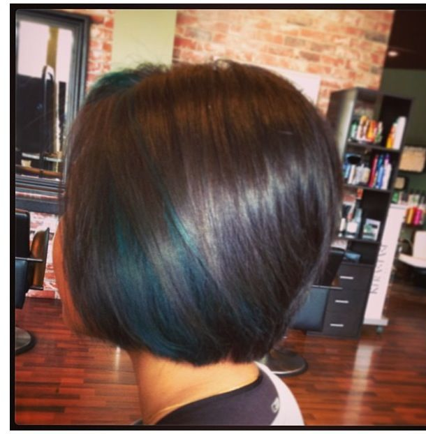 Teal peekaboo highlights