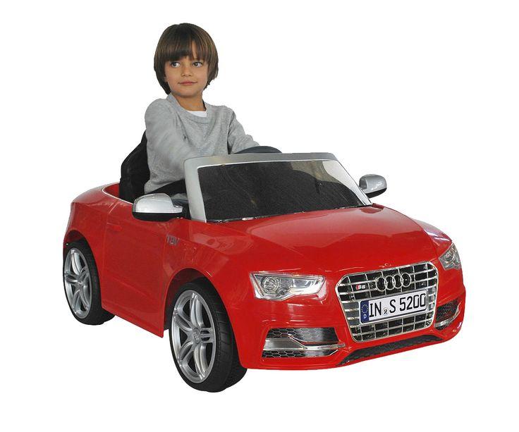 carros para niñosy niñas, accionado manualmente o por control remoto. Con luces, sonidos, cinturón de seguridad, logo de AUDI (producto oficial licenciado)