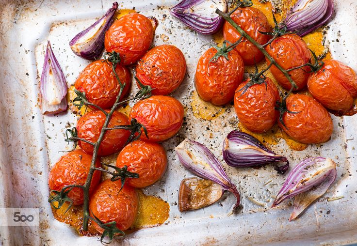 Oven roasted tomatoes and onions by Katia White on 500px