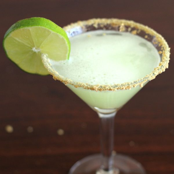 Key Lime Martini recipe: Vanilla Vodka, Key Lime Juice, Coconut, Pineapple, Cream