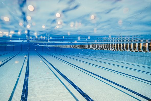 Olympic Swimming Pool Under Water Background Olympic Swimming Underwater Background Swimming Pools
