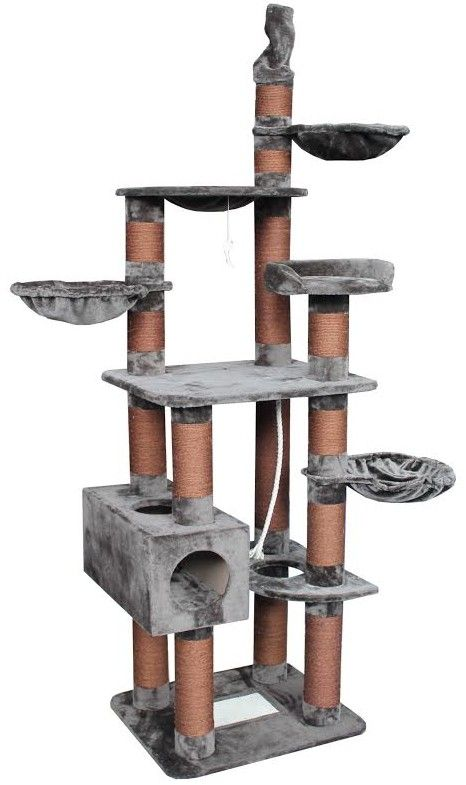 Features:  -Plenty of extra thick scratching posts to stop your cat from destroying your furniture.  -Gives your cats their own area to call home.  -Great for multiple cats or one cat.  -High quality