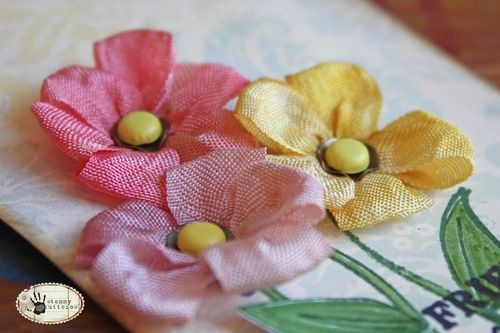Tammy Tutterow Tutorial: ribbon embroidery embellishments.