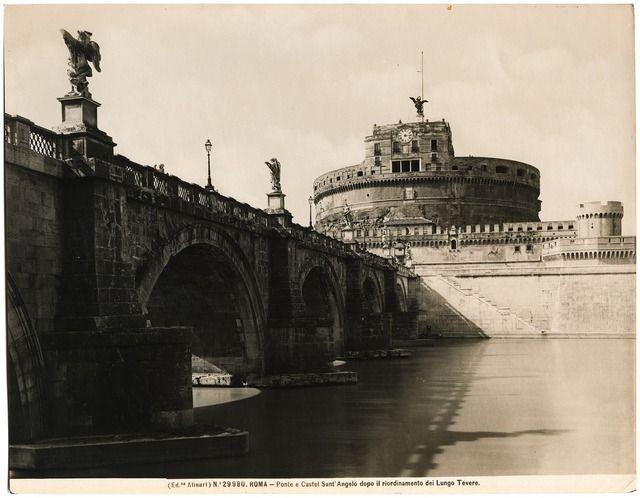 Gian Lorenzo Bernini (1598-1680) Engelsburg (Castel S. Angelo) und Engelsbrücke, Rom