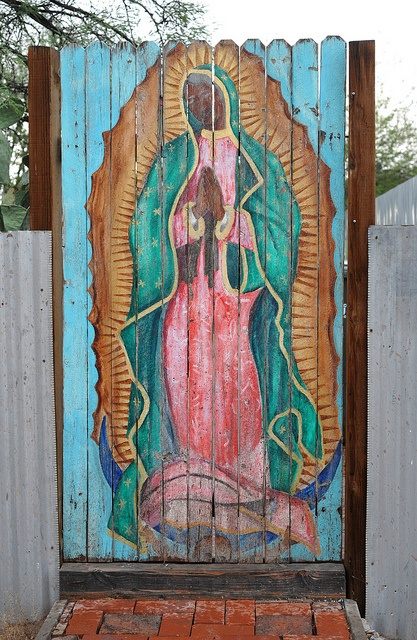 Guadalupe Old Barrio Tucson    This painting of the beloved Virgen de Guadalupe can be found in the Old Barrio neighborhood of Tucson, Arizona