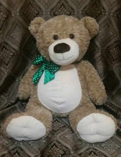 """Euc #extra #large jumbo teddy bear stuffed plush #green bow 1800 flowers huge 32"""", View more on the LINK: http://www.zeppy.io/product/gb/2/331546535217/"""