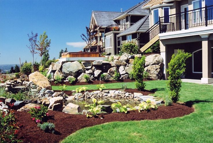 Landscaping a small sloped backyard