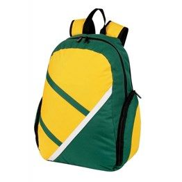 Zippered main compartment with inner elastic bag, Large zippered pocket on each side, Adjustable backpack strap with carry handle. 600 Denier Nylon http://catalogue.davarni.com.au/Products/Search/Products?textSearch=&category=12139&