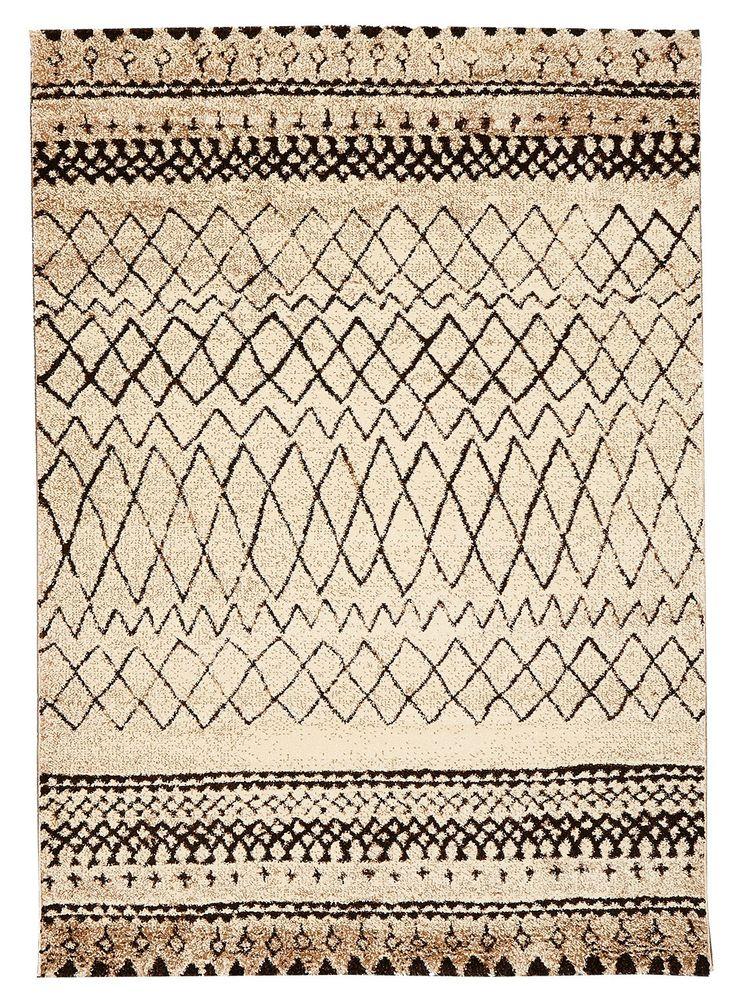 Tapis d'inspiration Berber MOROCCO TRIBAL beige