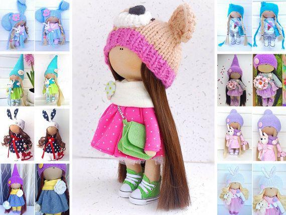 Tilda doll Interior doll Cloth doll Fabric doll Soft doll Art doll Pink doll Handmade doll Nursery doll Rag doll Collectable doll by Olga L