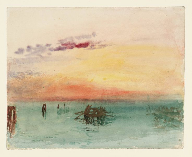 Joseph Mallord William Turner, Venice: Looking across the Lagoon at Sunset 1840