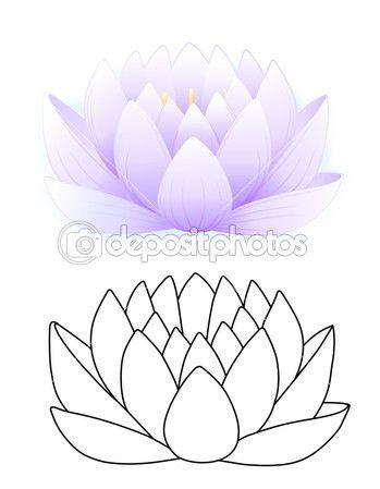 Vectorillustratie van blauwe lotus geïsoleerd op witte achtergrond — Stockillustratie #6870691