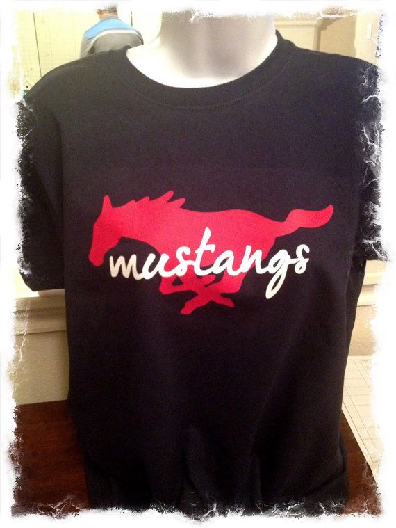 Mustang Football Glitter Shirt By Mamaglitter On Etsy