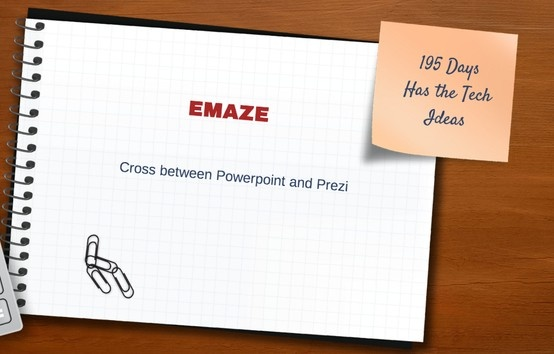 Emaze is an on-line presentation tool with a hint of Powerpoint and Prezi. Easy to use and cool templates and animations.