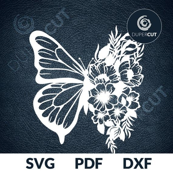 BUTTERFLY Hummingbird Flowers Prints Die Cut Stencil Template Scrapbook Painting