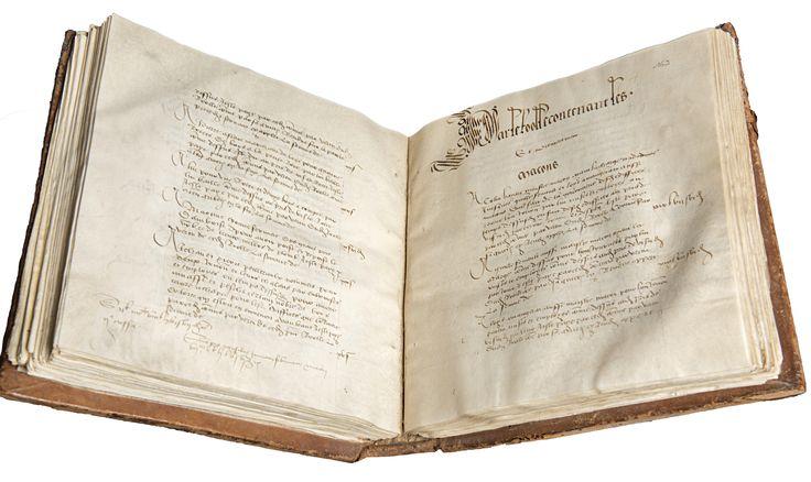 Registre des comptes du château d'Amboise © Archives nationale./ Marc Paturange - Sotheby's avec l'aimable autorisation de la Famille de France.