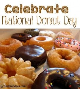 Celebrate National Donut Day on June 6. What a yummy holiday to celebrate! Let's go eat a donut!
