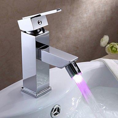 Farbwechsel LED Waschbecken Wasserhahn - Chrom-Finish