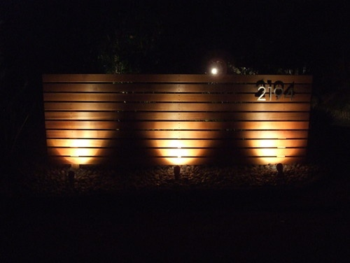 fence lighting ideas. would be cool to add lights behind plants and back light fence lighting ideas i