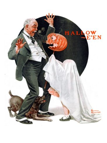 """Halloween"", October 23,1920 by Norman Rockwell. Giclee print at Art.com"
