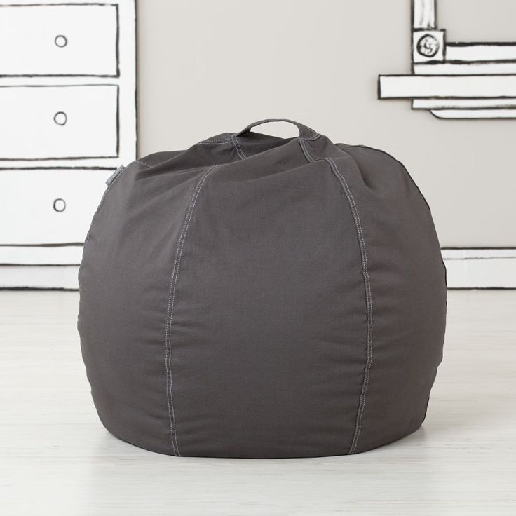 Shop Small Grey Bean Bag Chair Cover Okay Kid Have A Seat
