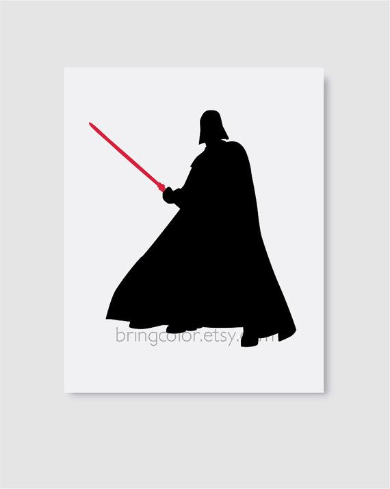 Star Wars Darth Vader Silhouette Wall Art Print 8X10 by BringColor