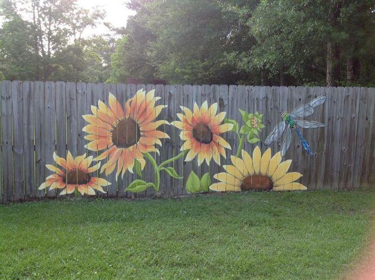 """SunFlowers~Fence""..."