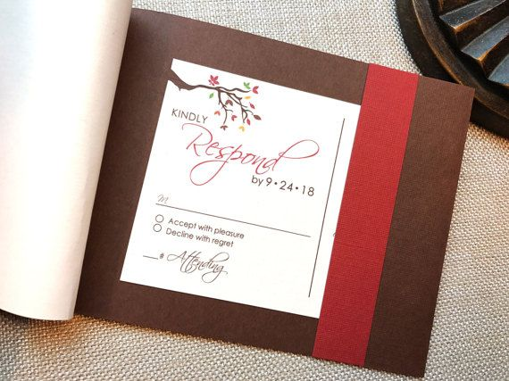 77 best fall colored wedding invitations images on Pinterest