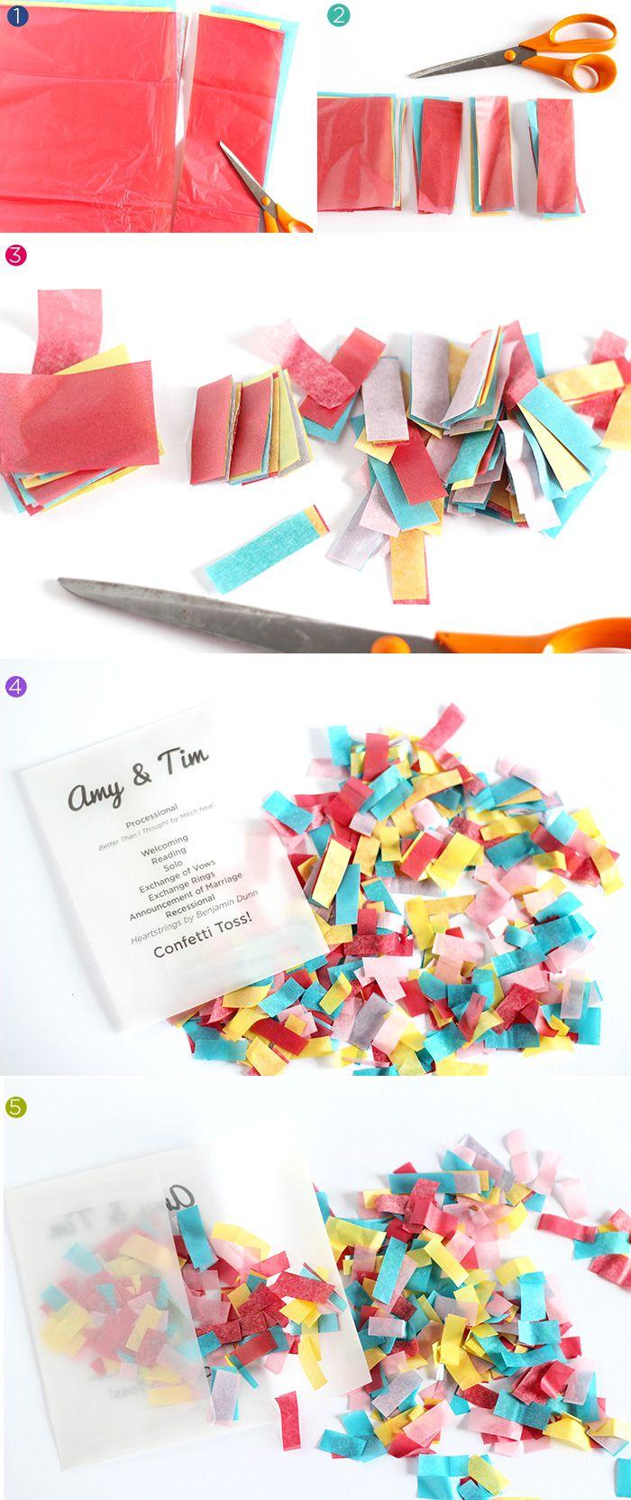 DIY Confetti Ceremony Programs