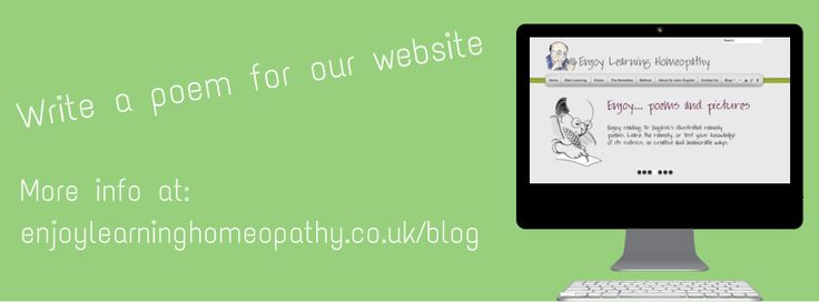 Our Facebook cover photo promoting our invitation to write a poem about arnica.