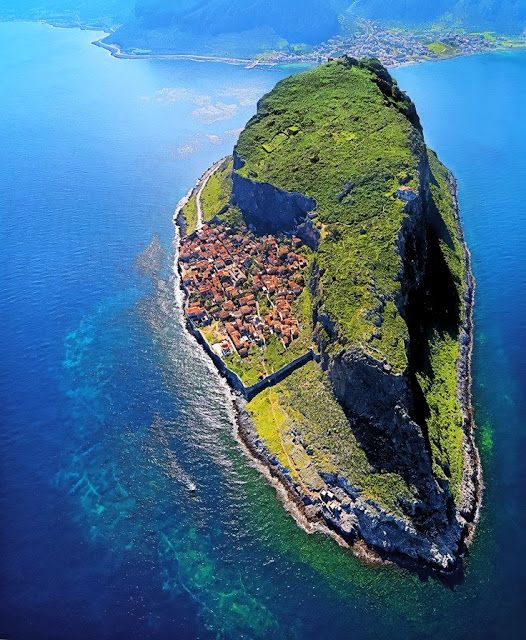 This is my Greece   Aerial view of Monemvasia in the southeastern Peloponese in the prefecture of Laconia, Peloponnese
