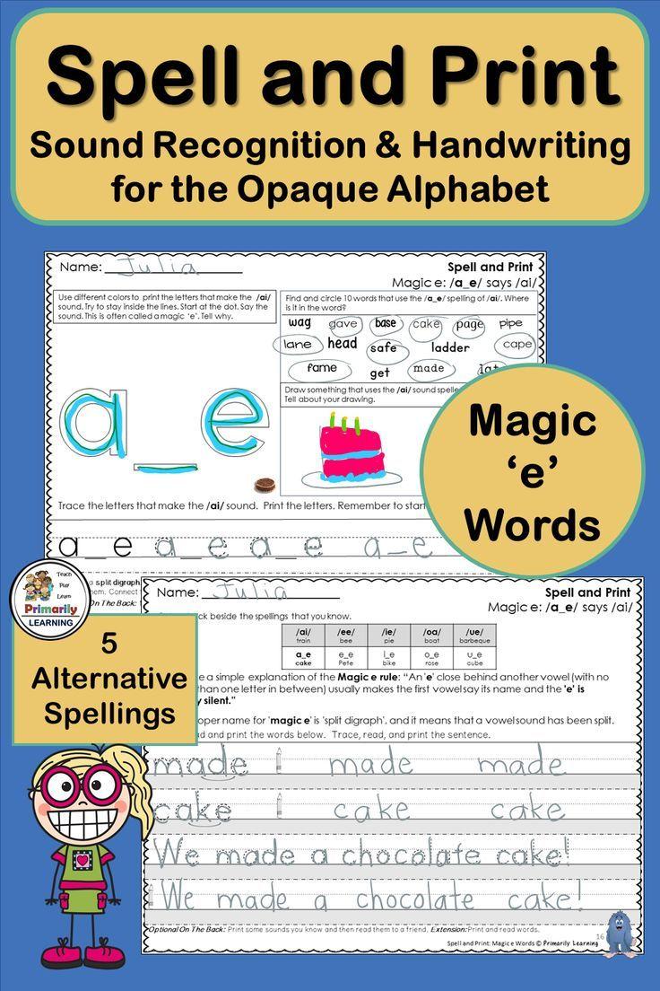 Imagine Combining Handwriting Practice And Alternative Spelling Activities Included In This Reso Phonics Programs Spelling And Handwriting Spelling Activities