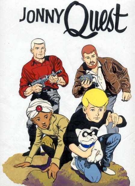 I Loved Johnny Quest !! It was the first cartoon to be painted on a black background.