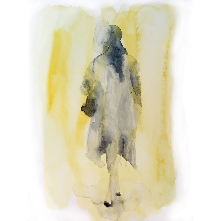#watercolor #sketch #fashion #illustration #yellow #woman #streetstyle #figure #drawing #painting #art