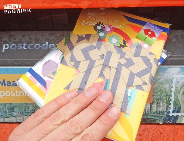 Origami-strik als briefwikkel