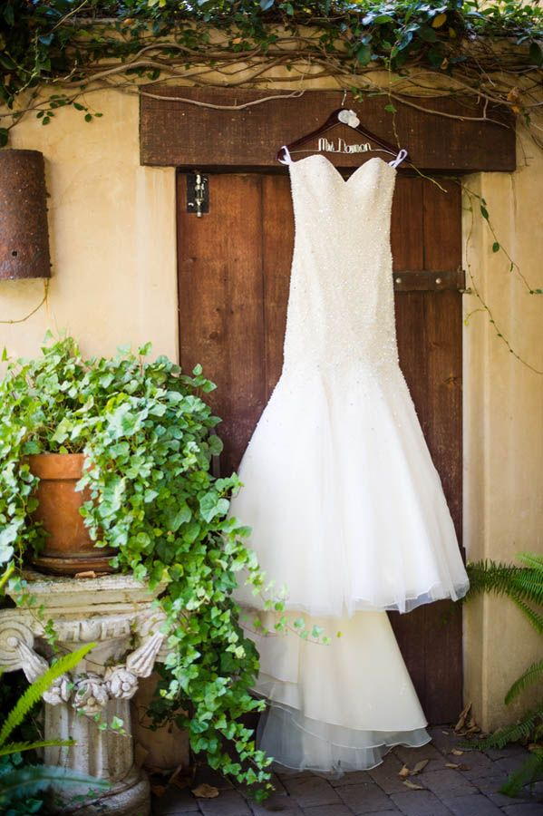 Fit and flare sparkly sweetheart wedding dress (Julie Nicole Photography)