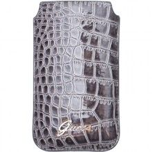 Forro Guess Crocodile Pocket iPhone 4 4S - Gris  Bs.F. 184,94
