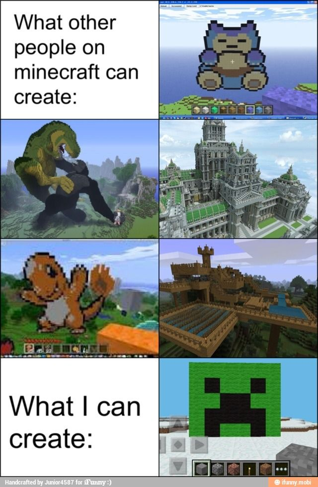Minecraft - What Other People on Minecraft Can Create vs. What I Can Create♢ #Video_Games #Gamer #Gaming