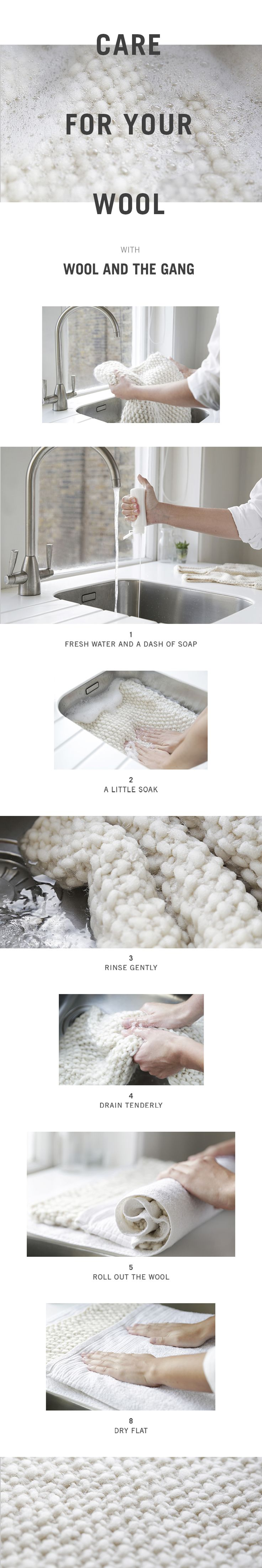 Learn how to care for your soft and chunky wool - woolandthegang.com